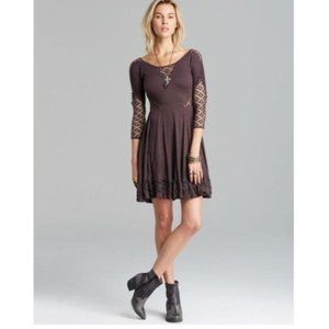 Free People Women's To The Point Dress Black Med